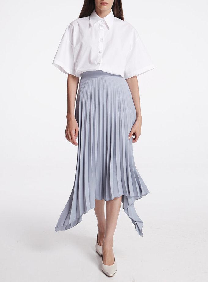 Асимметричная юбка плиссе SHKO_19062002, фото 1 - в интернет магазине KAPSULA