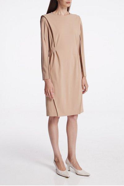 Платье из шерсти с защипами SHKO_19064001, фото 1 - в интеренет магазине KAPSULA