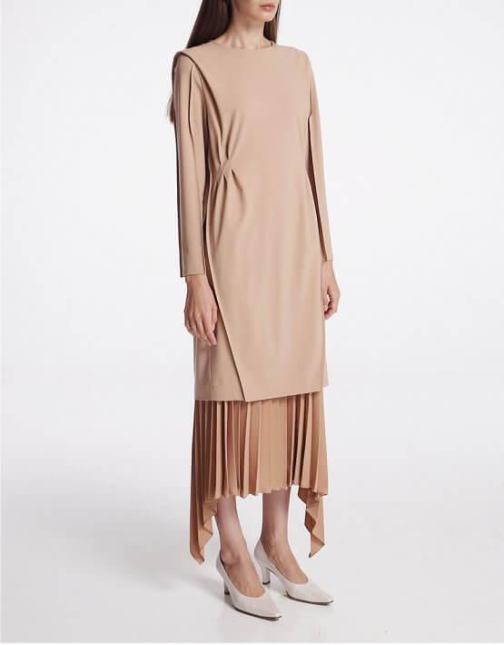 Платье из шерсти с защипами SHKO_19064001, фото 6 - в интеренет магазине KAPSULA