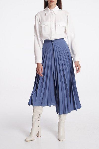 Асимметричная юбка плиссе на запах SHKO_20001001, фото 1 - в интеренет магазине KAPSULA