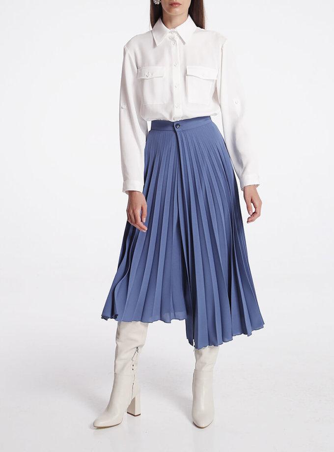 Асимметричная юбка плиссе на запах SHKO_20001001, фото 1 - в интернет магазине KAPSULA
