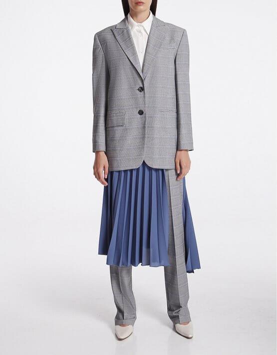 Асимметричная юбка плиссе на запах SHKO_20001001, фото 7 - в интеренет магазине KAPSULA