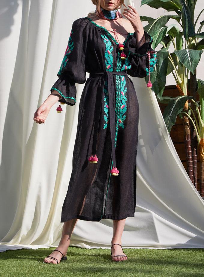 Туника Клэр из льна с вышивкой FOBERI_SS20001, фото 1 - в интеренет магазине KAPSULA