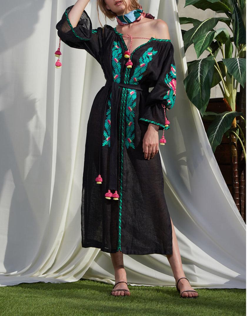 Туника Клэр из льна с вышивкой FOBERI_SS20001, фото 1 - в интернет магазине KAPSULA