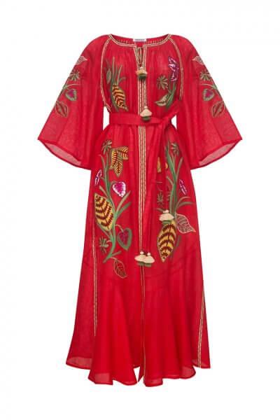 Платье Эдем из льна с рукавами воланами FOBERI_SS20020, фото 1 - в интеренет магазине KAPSULA