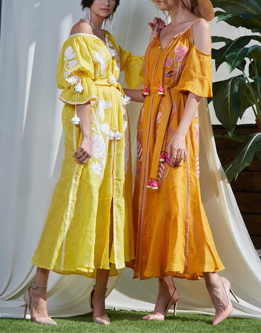 Платье из льна Эдэм на кнопках FOBERI_SS20022, фото 1 - в интернет магазине KAPSULA