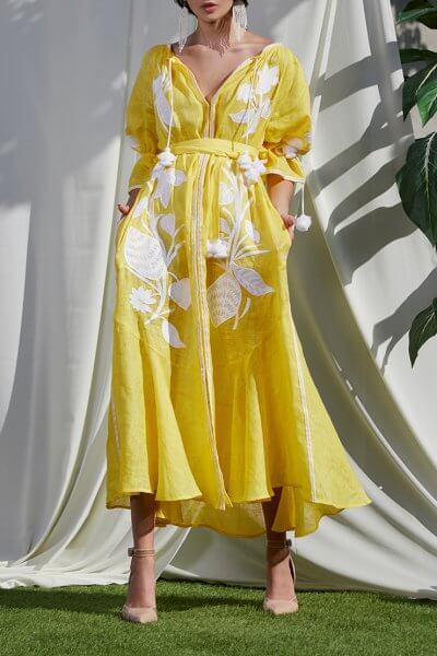 Платье из льна Эдэм на кнопках FOBERI_SS20022, фото 1 - в интеренет магазине KAPSULA