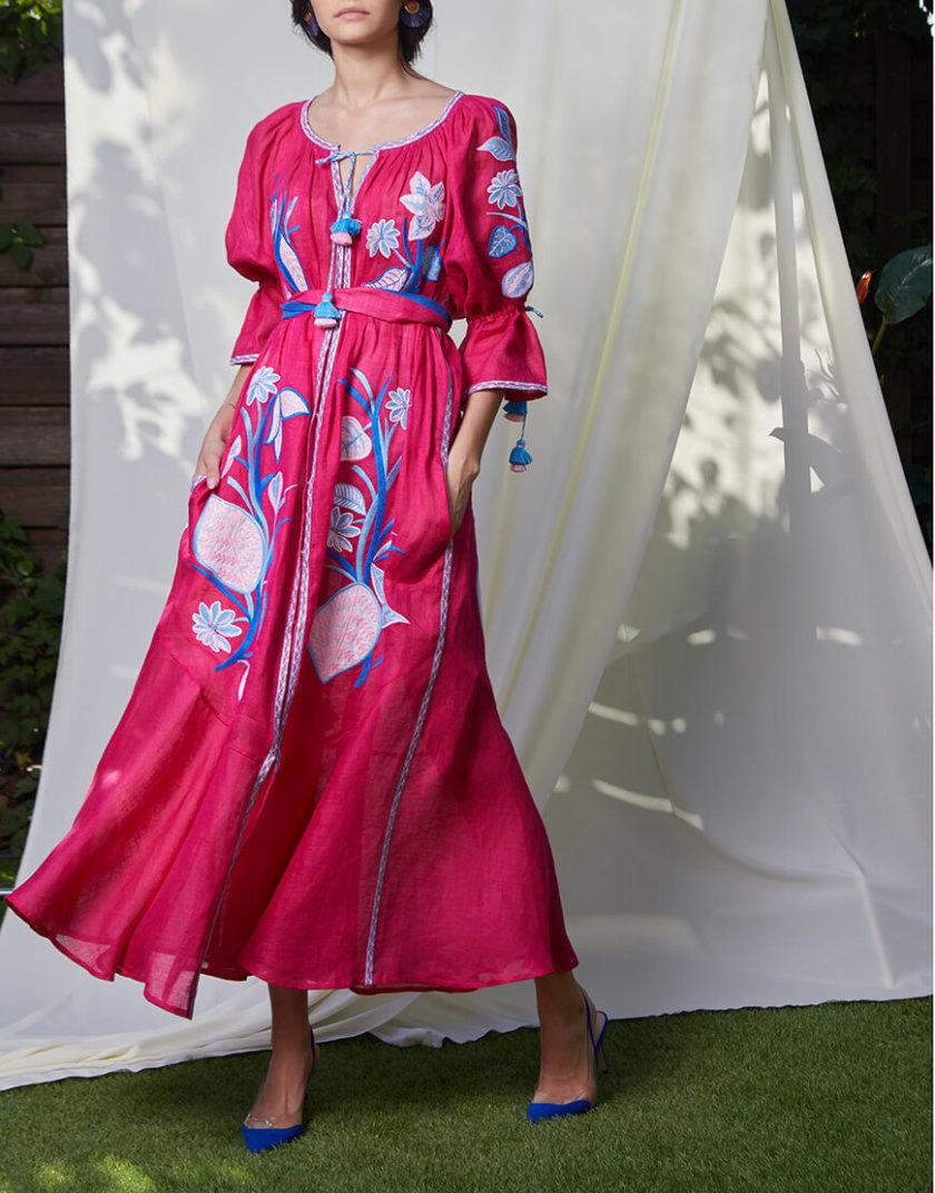 Платье Эдэм из льна круиз FOBERI_SS20023, фото 1 - в интернет магазине KAPSULA
