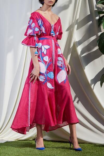 Платье Эдэм из льна круиз FOBERI_SS20023, фото 1 - в интеренет магазине KAPSULA