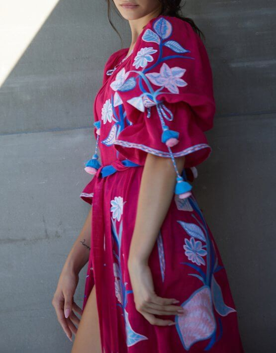 Платье Эдэм из льна круиз FOBERI_SS20023, фото 7 - в интеренет магазине KAPSULA
