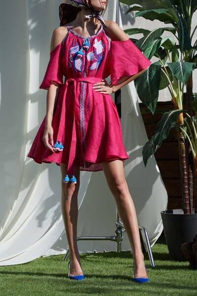Платье Эдэм из льна  на кнопках FOBERI_SS20026, фото 1 - в интеренет магазине KAPSULA