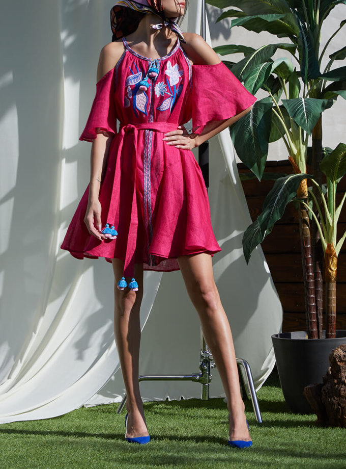 Платье Эдэм из льна  на кнопках FOBERI_SS20026, фото 1 - в интернет магазине KAPSULA