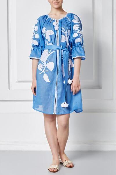 Платье Эдэм мини из льна FOBERI_SS20028, фото 3 - в интеренет магазине KAPSULA