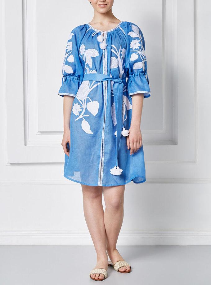Платье Эдэм мини из льна FOBERI_SS20028, фото 1 - в интернет магазине KAPSULA