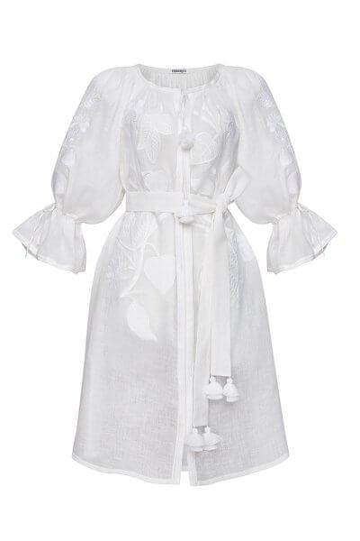 Платье из льна Эдэм круиз FOBERI_SS20029, фото 4 - в интеренет магазине KAPSULA