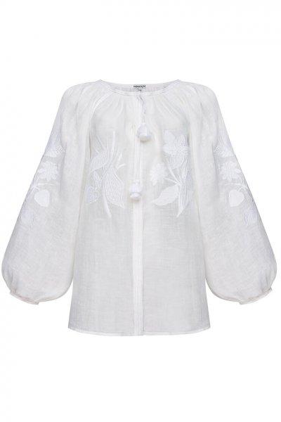 Блуза Эдэм из льна FOBERI_SS20030, фото 2 - в интеренет магазине KAPSULA