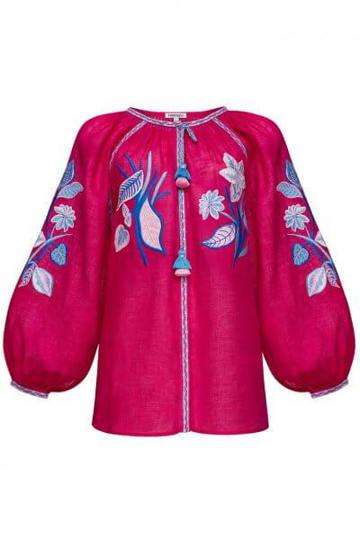 Блуза из льна Эдэм FOBERI_SS20031, фото 1 - в интеренет магазине KAPSULA