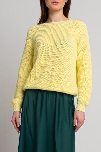 Джемпер из хлопка SVST_ААВ-1-sweater-yellow, фото 1 - в интеренет магазине KAPSULA