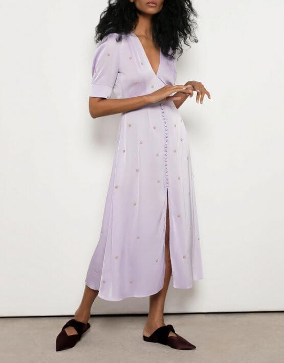 Винтажное платье из шелка OTS_3-13-lavender, фото 4 - в интеренет магазине KAPSULA