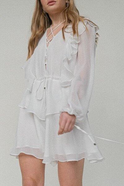Легкое платье с воланами MSY_offwhite_minidress, фото 1 - в интеренет магазине KAPSULA