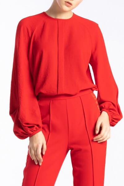 Легкая блуза с объемными рукавами ALOT_020190, фото 1 - в интеренет магазине KAPSULA