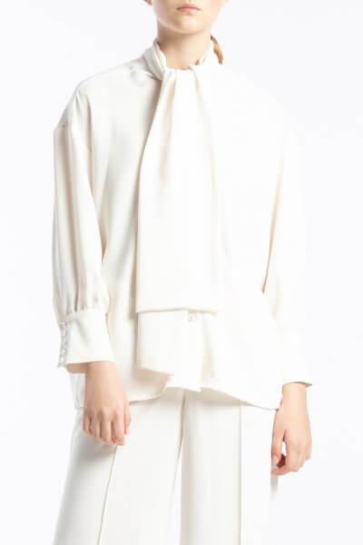 Блузка с воротником-бантом ALOT_020202, фото 1 - в интеренет магазине KAPSULA
