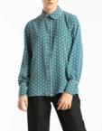 Блуза свободного кроя с планкой ALOT_020178, фото 4 - в интеренет магазине KAPSULA