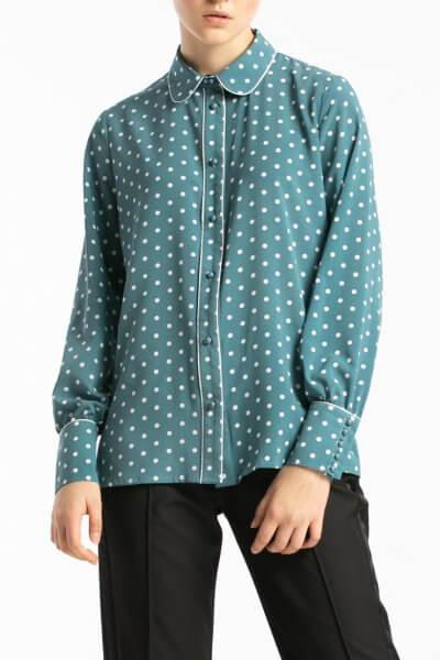 Легкая блуза в горошек ALOT_020205, фото 2 - в интеренет магазине KAPSULA