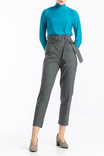 Укороченные брюки в мелкую клетку ALOT_030118, фото 1 - в интеренет магазине KAPSULA
