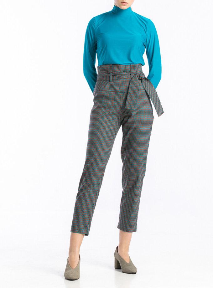 Укороченные брюки в мелкую клетку ALOT_030118, фото 1 - в интернет магазине KAPSULA