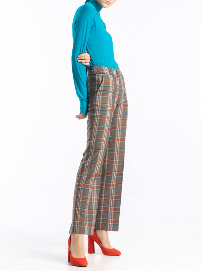 Прямые брюки в клетку ALOT_030119, фото 1 - в интернет магазине KAPSULA