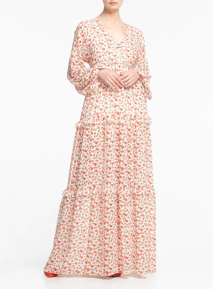 Шифоновое платье макси ALOT_100336, фото 1 - в интеренет магазине KAPSULA