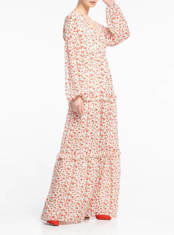 Шифоновое платье макси ALOT_100336, фото 1 - в интернет магазине KAPSULA