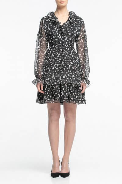 Шифоновое платье мини ALOT_100338, фото 4 - в интеренет магазине KAPSULA