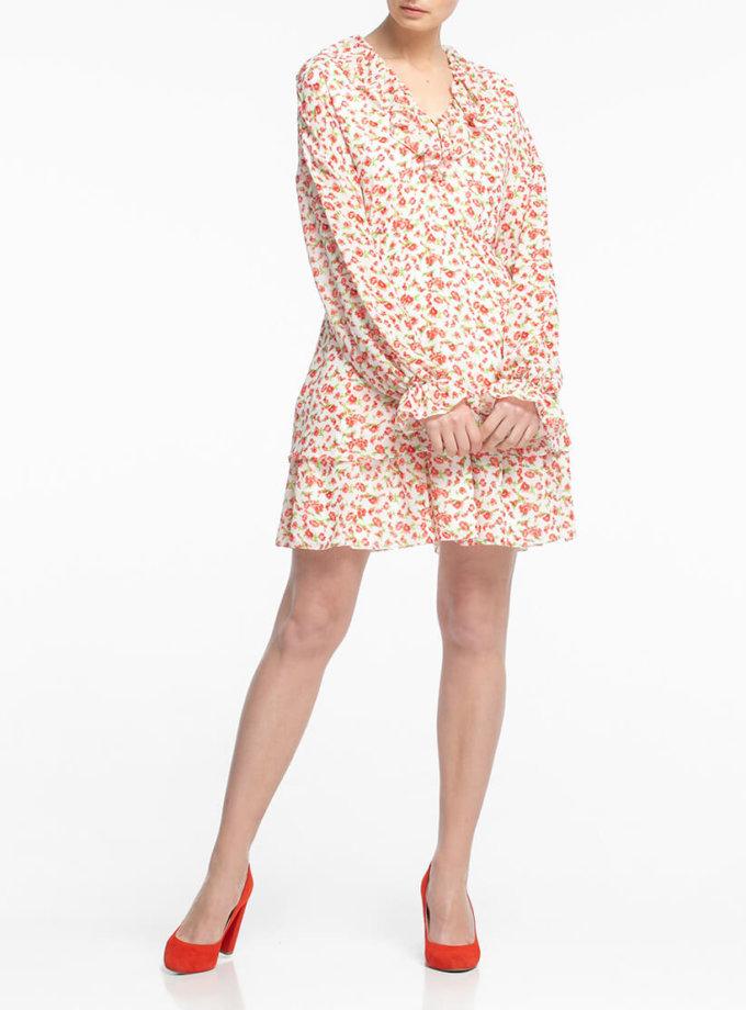 Шифоновое платье мини ALOT_100342, фото 1 - в интеренет магазине KAPSULA