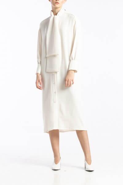 Платье с воротником-бантом ALOT_100390, фото 1 - в интеренет магазине KAPSULA