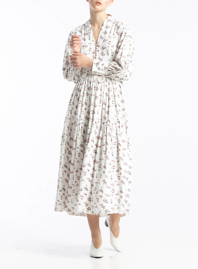 Платье миди в цветочный принт ALOT_100393, фото 1 - в интернет магазине KAPSULA