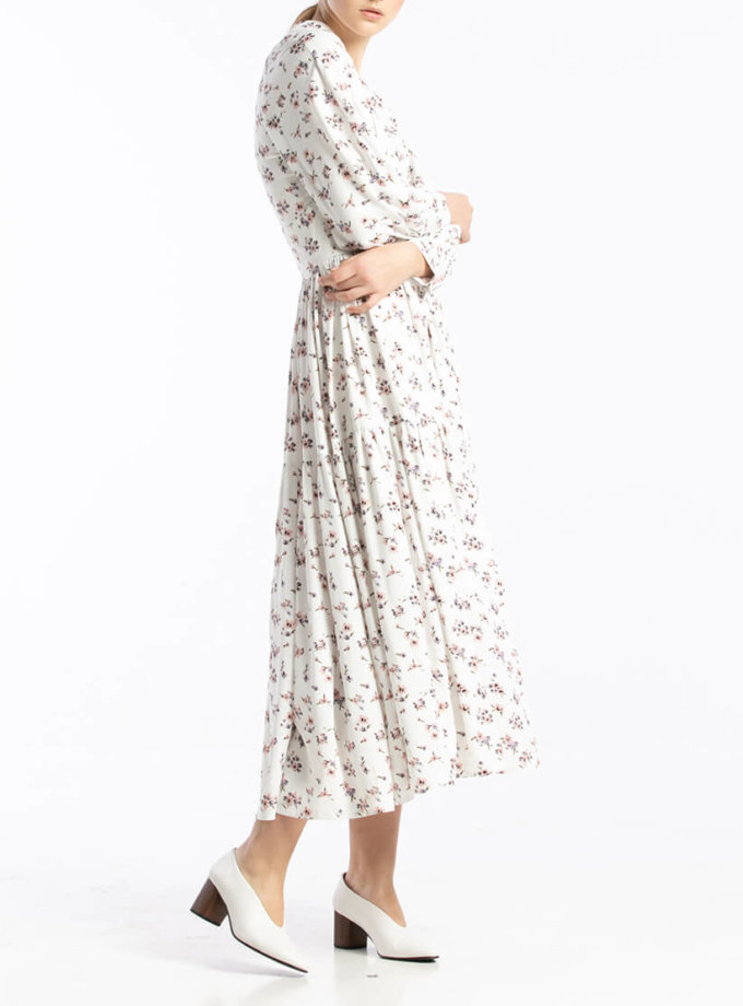 Платье миди в цветочный принт ALOT_100393, фото 1 - в интеренет магазине KAPSULA