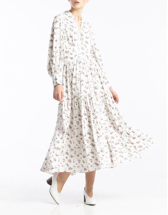 Платье миди в цветочный принт ALOT_100393, фото 5 - в интеренет магазине KAPSULA