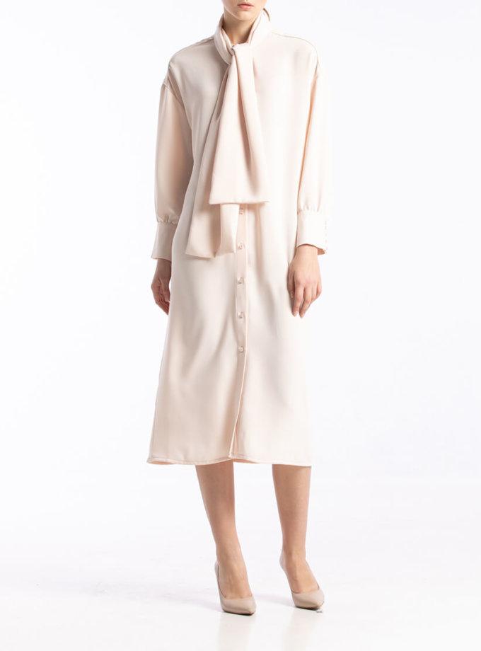 Платье с воротником-бантом ALOT_100395, фото 1 - в интернет магазине KAPSULA