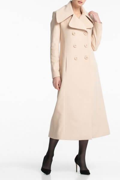 Двубортное пальто макси с поясом ALOT_500160, фото 1 - в интеренет магазине KAPSULA