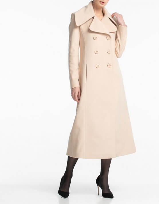 Двубортное пальто макси с поясом ALOT_500160, фото 4 - в интеренет магазине KAPSULA