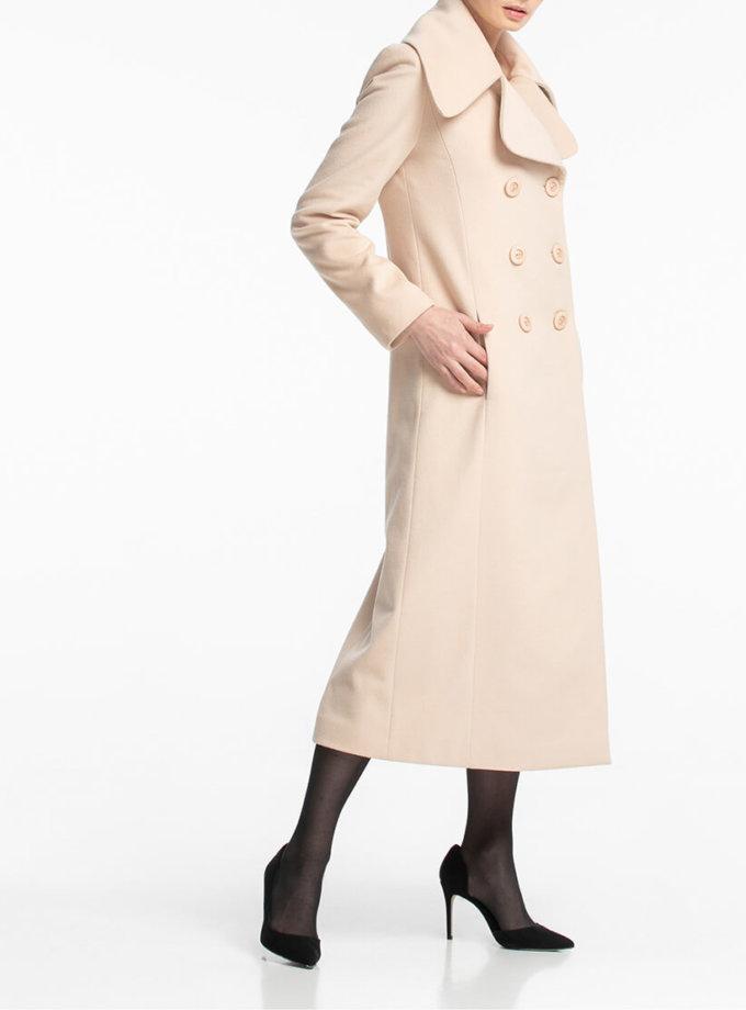 Двубортное пальто макси с поясом ALOT_500160, фото 1 - в интернет магазине KAPSULA