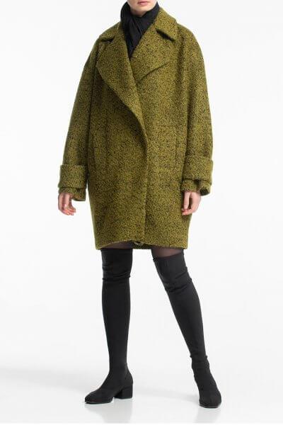 Пальто-кокон букле из шерсти ALOT_500163, фото 2 - в интеренет магазине KAPSULA