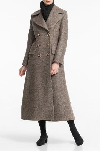 Двубортное пальто макси с поясом ALOT_500170, фото 1 - в интеренет магазине KAPSULA