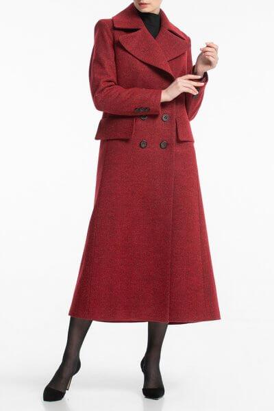 Двубортное пальто макси с поясом ALOT_500171, фото 1 - в интеренет магазине KAPSULA
