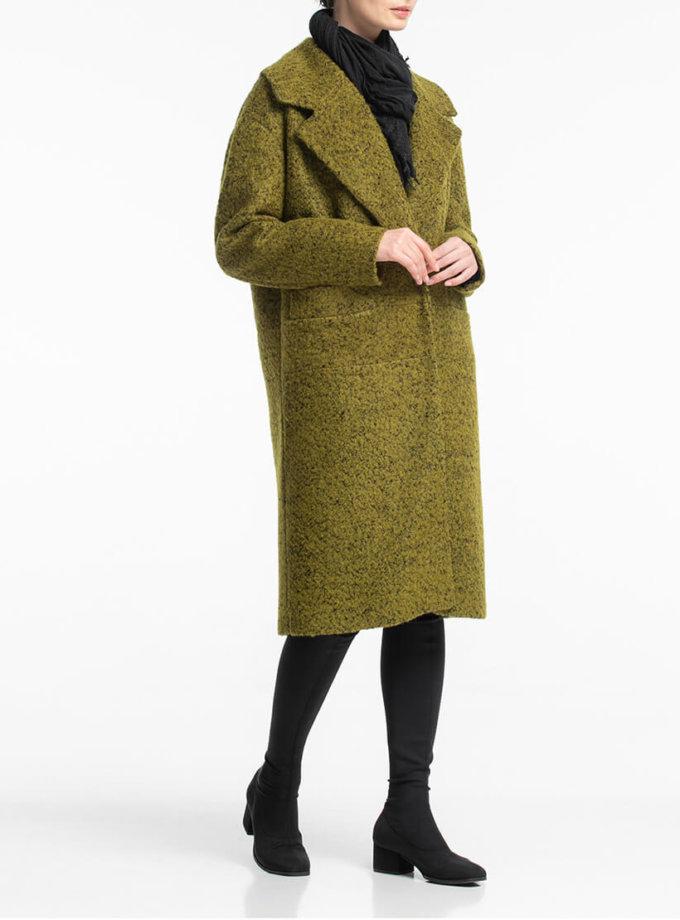 Прямое пальто букле из шерсти ALOT_500183, фото 1 - в интернет магазине KAPSULA