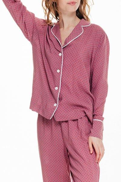 Рубашка прямого кроя в принт BLCGR_BLCN672, фото 1 - в интеренет магазине KAPSULA