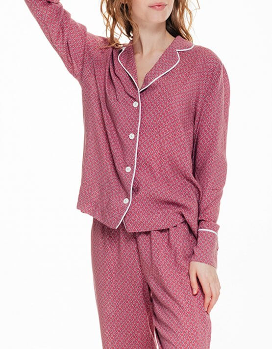 Рубашка прямого кроя в принт BLCGR_BLCN672, фото 3 - в интеренет магазине KAPSULA