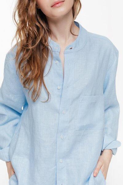 Рубашка oversize на пуговицах BLCGR_BLCN674, фото 1 - в интеренет магазине KAPSULA